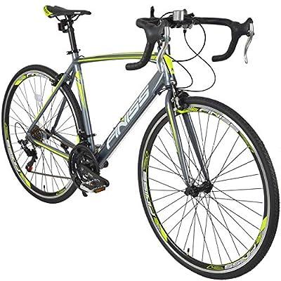 Merax Finiss Aluminum 21 Speed 700C Road Bike Racing Bicycle (Gray & Green, 52 cm)