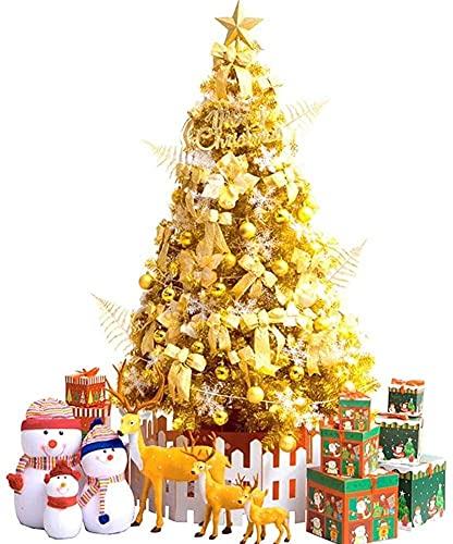 WEIGE Árbol de Navidad Plegable Decoración Dorada de Vacaciones Árbol de Navidad...