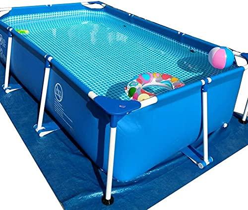 ZGYZ Piscina Grande con Soportes Piscina Familiar sobre el Suelo Los niños y Adultos Pueden Nadar Cubierta y Tela para el Piso y Juguetes para la Piscina (2.6 * 1.6 * 0.65m)