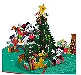 Lovepop Disney's Mickey & Friends Festive Cheer Pop-Up 3-D Greeting Card