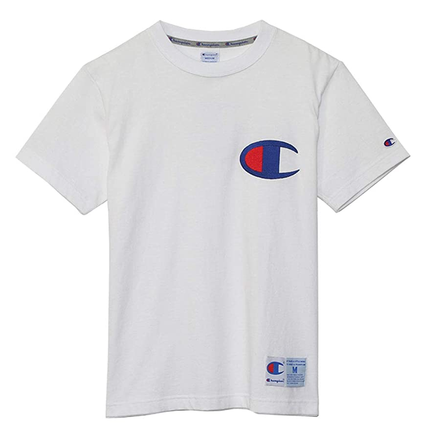 かわすミルスリム(チャンピオン) Champion メンズ ビックロゴ入り Tシャツ アクションスタイル【19SS】(C3-F362-010) ホワイト White