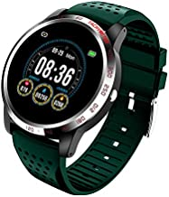 NiceFuse Smart Watch, Fitness Tracker with Heart Rate Monitor Blood Oxygen Saturation Meter Sleep Monitor, Waterproof Smartwatch Compatible with iPhone Samsung Android Phones (Green MH)
