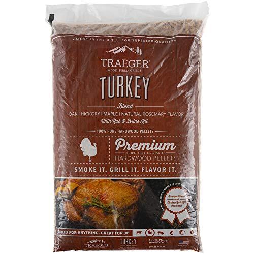 Traeger Grills PEL329 Turkey Blend 100% All-Natural Hardwood Pellets Grill, Smoke, Bake, Roast, Braise and BBQ, 20 lb. Bag