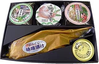 若狭小浜 海鳴り(轟とどろき)笹漬け100g×3個、若狭ぐじ味噌漬け、鯖缶のセット