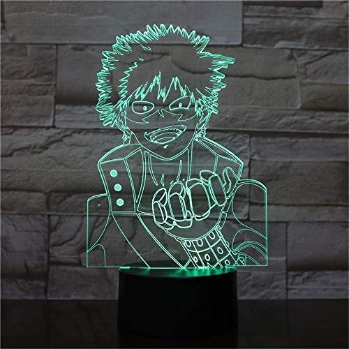 My Hero Academia Anime 3D Led Night Lights Action Figure Enfants Jouets Creative Lighting Table Lamp Decor