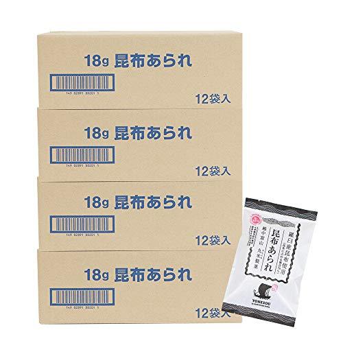 米蔵 あられ(昆布あられ12袋) 国産もち米使用 富山 丸米製菓 (4箱)