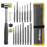 Hi-Spec 19-teiliges Punch- & Meißel-Werkzeugsatz mit Hammer. Splintentreiber& Kaltflachmeißel für...