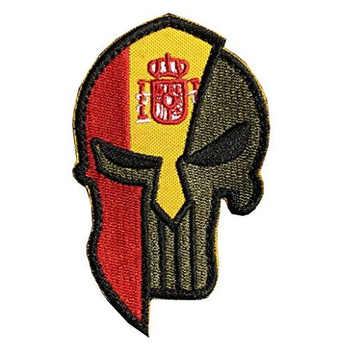 Ohrong España bandera nacional Espana parche bordado espartano táctico moral parche insignia brazalete apliques con gancho y lazo
