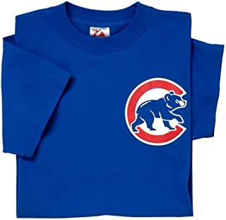 Chicago Cubs (Adult XL) 100% Cotton Crewneck MLB Officially Licensed Majestic Major League Baseball Replica T-Shirt Jersey