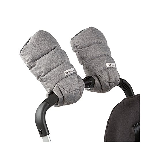 7AM Stroller Hand Warmers - Warmmuffs With Anti- freeze, Cold Weather, Water Repellent Warm Hand Gloves for Pushchair, Pram, and Stroller