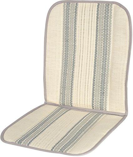 Carfactory - Respaldo de verano para asiento de coche, fabricado en fibra de rafia, esterilla de coche verano, esterilla frescor, natural