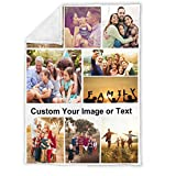 Personalized Throw Blanket for Baby Collage 1-9 Photos, Custom Kid Blankets with Photos Customized Soft Flannel Blanket for Baby Dogs Family Friend, Upload Your Image(30'x40', 9 Photos)