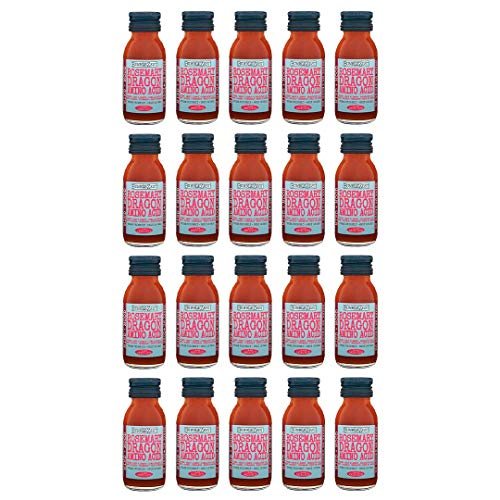 BumbleZest Mind + Mood Drink – Rosemary & Dragon Fruit Shot Drinks – With Thyme, Mint & Himalayan Salt – Boosts Focus, Memory Performance & Spirit – Vegan & Low in Calories – 60ml (Pack of 20)