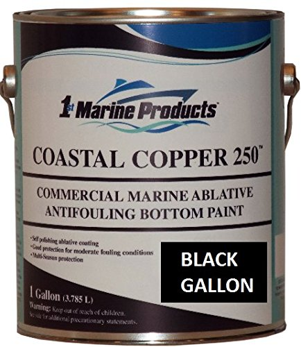 US Marine Products Black Gallon Coastal Copper 250 Ablative Antifouling Bottom Paint Black Gallon