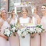 Sayala Personalizzata Fiori Photo Booth Matrimonio,Wedding Birthday Photo Booth Cornice Puntelli per Matrimonio Bridal Shower Party Favore