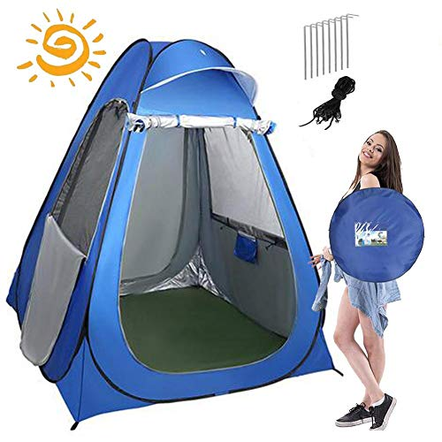Pop Up Privacy Tent,Changing Room Privacy Tent,camping Shower,Waterproof Lightweight & Sturdy Easy Set Up Foldable Camp Toilet Rain Shelte With Changing Tent,Ground Nail X4,Tent Bag,Storage Bag