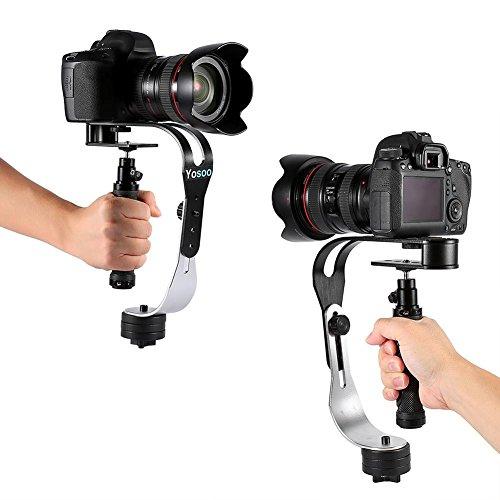 Stabilizzatore Portatile Supporto, gimbal reflex, Alluminio Portatile Mini Handheld Video Stabilizzatore,Attaccabile e Smontabile Gimbal a Cavo per Fotocamera Videocamera DSLR SLR DV (nero)