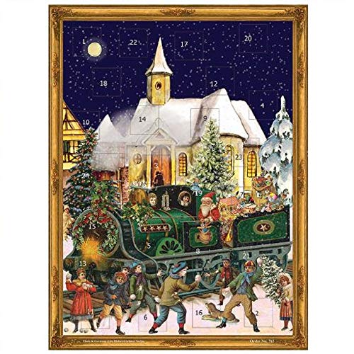Pinnacle Peak Trading Company Victorian Christmas Train German Advent Calendar Countdown Made in Germany
