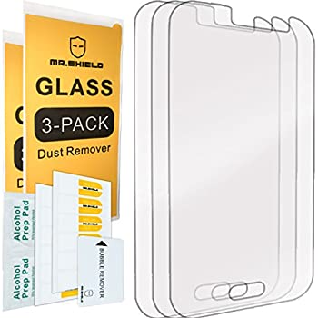 [3-PACK]- Mr.Shield Designed For Samsung Galaxy J1 Ace [Tempered Glass] Screen Protector [0.3mm Ultra Thin 9H Hardness 2.5D Round Edge] with Lifetime Replacement