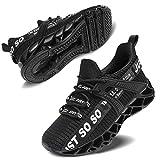 Vivay Turnschuhe Jungen Wasserdicht Wanderschuhe Sneakers Kinder Trekking Schuhe Outdoor Sportschuhe Laufschuhe,1Schwarz,37 EU