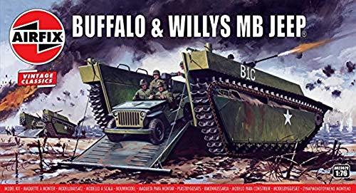 1/76 Buffalo Amphibian LVT & Jeep