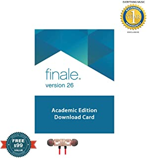 MakeMusic Finale v26 - Music Notation Software (Academic, Download) includes Free Wireless Earbuds - Stereo Bluetooth In-ear and 1 Year Everything Music Extended Warranty