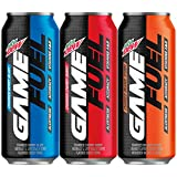 Mountain Dew Game Fuel, 3 Flavor Variety Pack, 16 fl oz. cans (12 Pack) (Packaging May Vary)