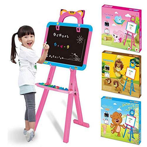 Kinderen Blackboard Afneembare dubbelzijdige kinderen ezel schoolbord/magnetische droog wissen board - kinderen ezel met opbergdoos houten kunst ezel voor kinderen tekenen en tekenen Educatieve G