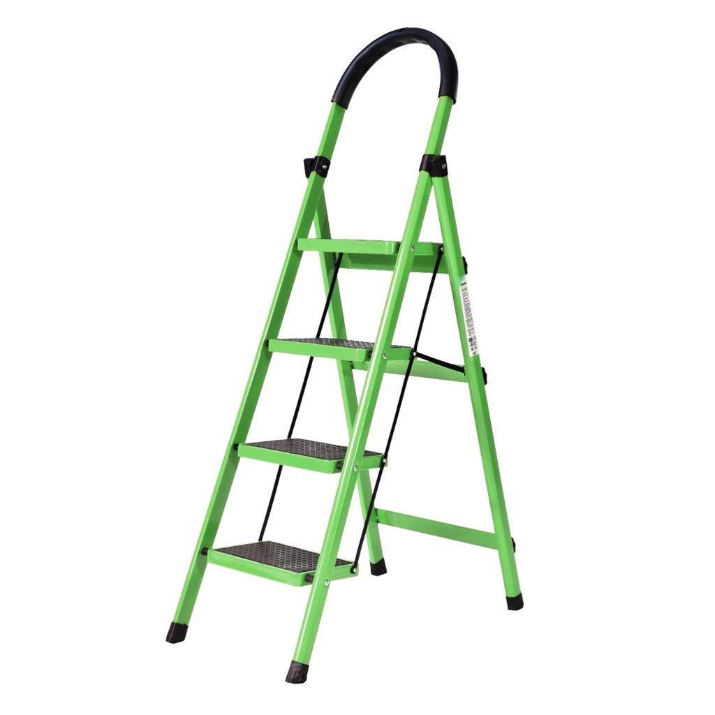 QFF Escalera de cuatro peldaños, exterior, escalera de hierro para interior, escalera de hierro, verde, rosa, rojo, blanco, 43 x 76 x 145 cm: Amazon.es: Bricolaje y herramientas