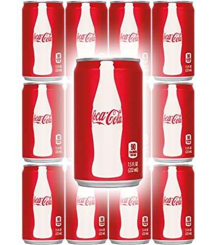 Coca-Cola, 7.5 Fl Oz Mini Can (Pack of 12, Total of 90 Oz)