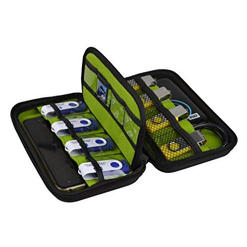 """BlueBeach® Custodia Sacchetto Borsa Protettiva Portatile 2.5"""" Disco Rigido Esterno HDD per Unità Flash USB / Cavi di Ricarica / Scheda di Memoria SD / WD Western Digital My Passport Ultra / Seagate Backup Plus / Toshiba Canvio Basics"""
