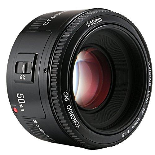 YONGNUO Lente de gran apertura F1.8 de 50 mm para Canon EF Mount EOS, etc. 5DIII/5DII/6D/60D/600D/650D/1000D/1100D/1200D/20D/300D/350D.