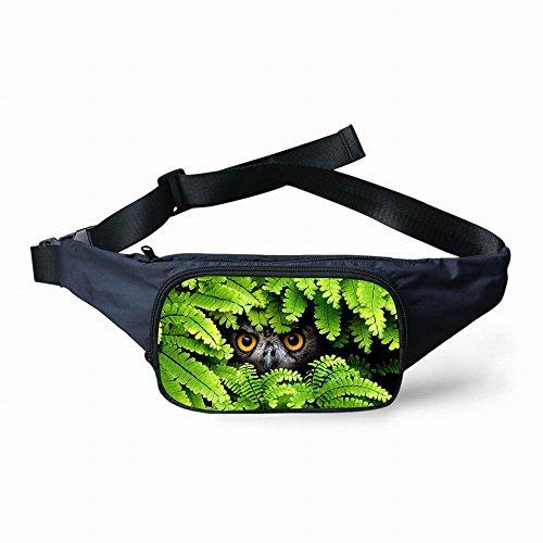 Thikin Motif floral Imprimé animal Noir Extensible Taille Packs Ceinture de course Ceinture de l'argent chemin de sacs pour homme et femme Voyage randonnée Course, escalade, Jogging, chasse --- 21 cm (L) * 13 cm (H) x 9 cm (L), green4