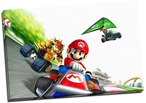 Mario Kart mit Luigi Leinwanddruck Bild Wall Art Großer 76,2x 50,8cm