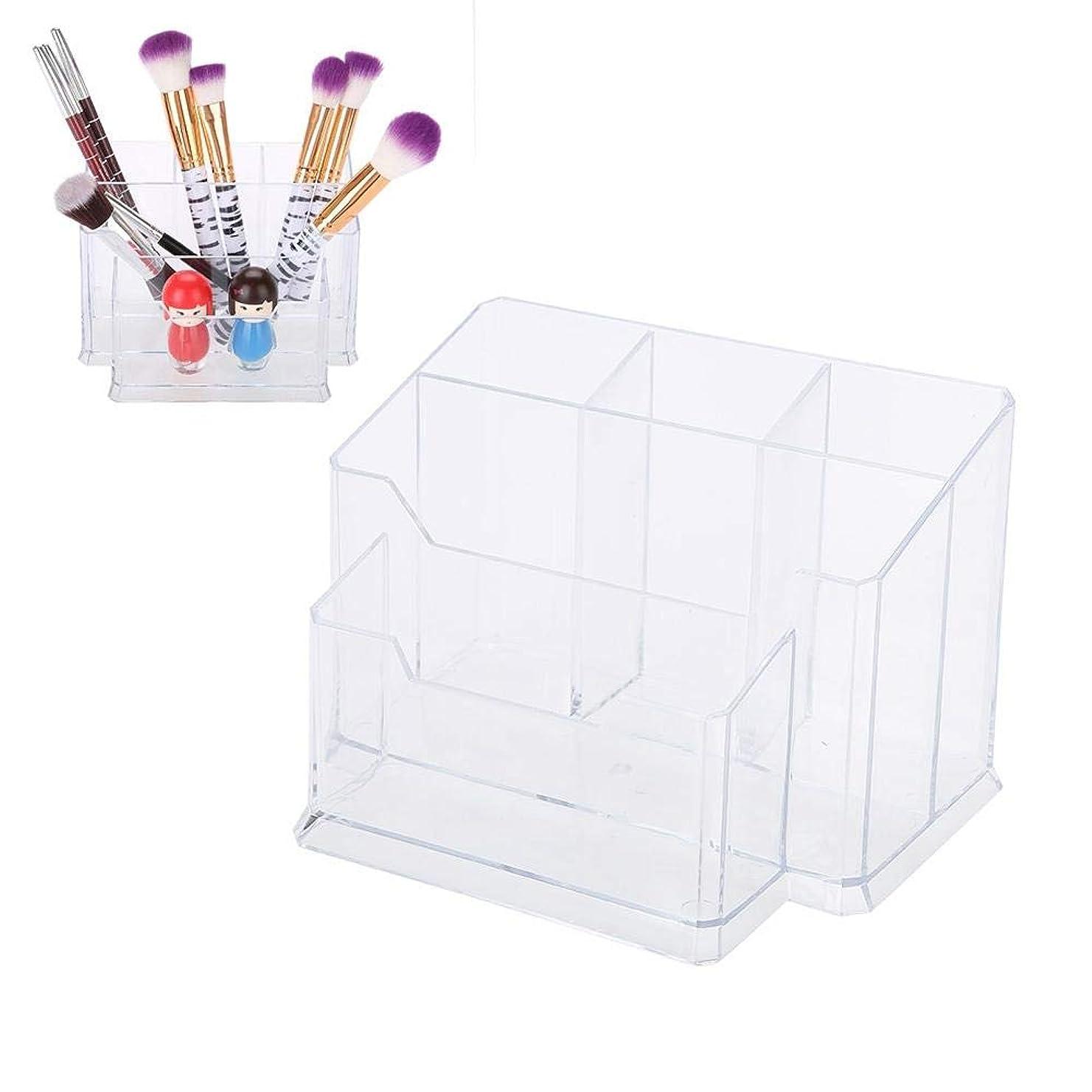 ご覧くださいスリップヘクタール透明なネイルペンホルダー化粧ブラシ、収納ボックスケースディスプレイシェルフマニキュアツール