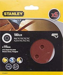 STANLEY STA31024-XJ 5 Hojas de lija Grano Surtido 2 x G80 2 x G180 y 1 x G240.