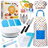 RISEBRITE Cake Decorating Kit for Kids Baking Set for Girls and Boys – 38 Pcs Gift Set includes Kids Apron, Chef Hat, Cake Decorating Tools, Cooking and Baking Supplies for The Curious Junior Chef