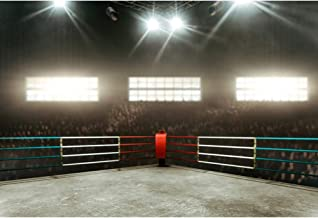 CSFOTO 5x3ft Arena Photogarphy Backdrop for Boxing Match Wrestling Match Arena Background Boxing Gym Kung Fu Gym Gymnasium Decor Flashlight The Crowd Adults Portrait Photo Studio Props