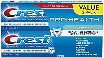 2-Pack Crest Pro-Health Clean Mint Toothpaste, 4.6oz