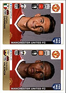 2015-16 Panini FIFA 365 Stickers #318 Matteo Darmian 319. Antonio Valencia