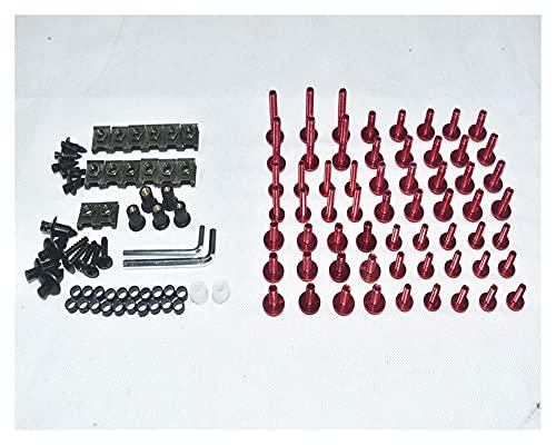 ZHUSHANG SHUANGX Ajuste para CNC Tornillos De Carga Completos Cuerda Tornillos Tuercas Nuts Fit para BMW S1000RR K1200GT F800GT R1200RT F800GS (Color : Red)