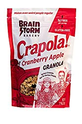 Granola Cereal by Crapola - Low carb natural Granola with fruit and protein for a Healthy Breakfast