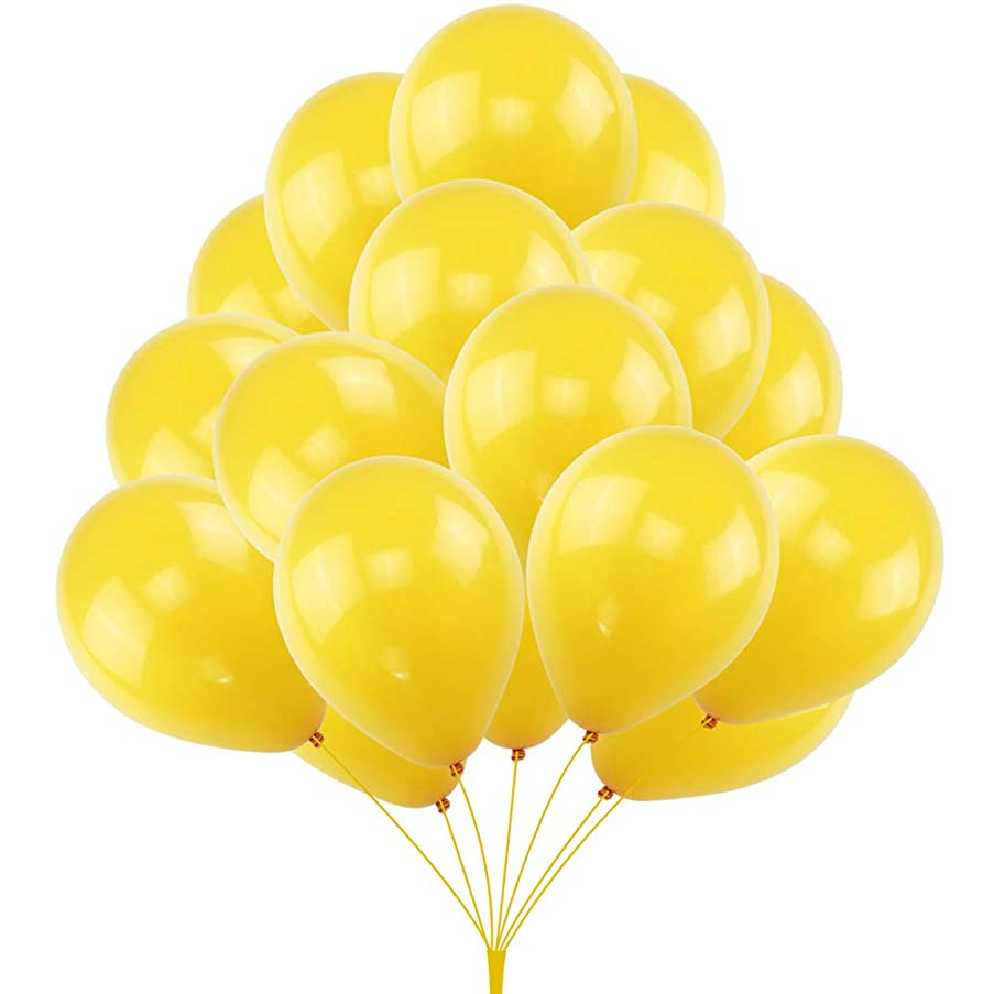 KUMEED Lemon Yellow Balloon Latex Balloons Globos Party Birthday Wedding Balloons Pack of 100
