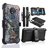 for Moto G7 Power Case, 6goodeals Heavy Duty Hard Shock Protector Full Protective Shield Case Cover with Belt Clip and Kickstand Built in Screen for Motorola G7 Power (Camo)