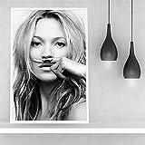 JFHSJ Poster Supermodel Kate Moss Poster Fashion Ins Nordic Minimalist Bedroom Living Room Decor Painting 40 * 60cm