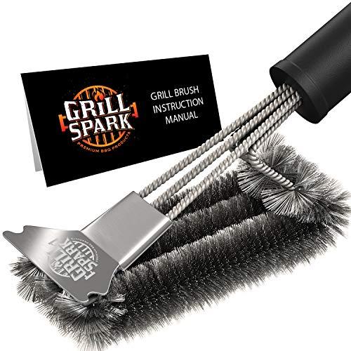 Grill Spark - Spazzola per griglia barbecue, con...