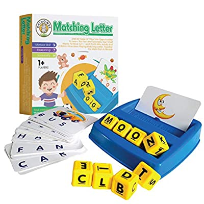 rhinowee Matching Letter Game for Kids - Helps with Letter Recognition Word Spelling - Kids Matching Games 3-6 Years