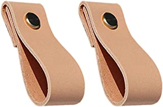 Yardwe 2 piezas de muebles de cuero manija de la puerta