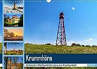 KRUMMHOeRN Achtzehn Warfendoerfer plus ein Fischerdorf (Wandkalender 2022 DIN A3 quer): Krummhoern ist eine grosse Eingemeindung vieler kleiner Doerfer direkt am Wattenmeer in Ostfriesland gelegen. (Monatskalender, 14 Seiten )