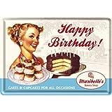 Nostalgic-Art Happy Birthday/Post Card (Tin, Ltd.) (Japan Import)